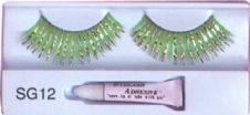 Green and Silver Eyelashes